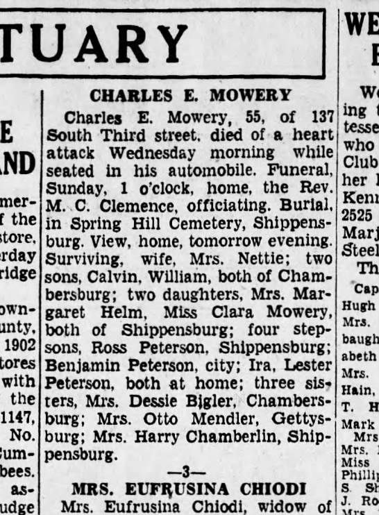 1935 November 8 Charles E. Mowery Friday Hbg Tele -