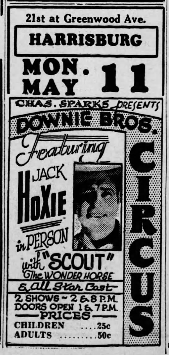 Sparks Hoxsie Ad 5-11-1936 -
