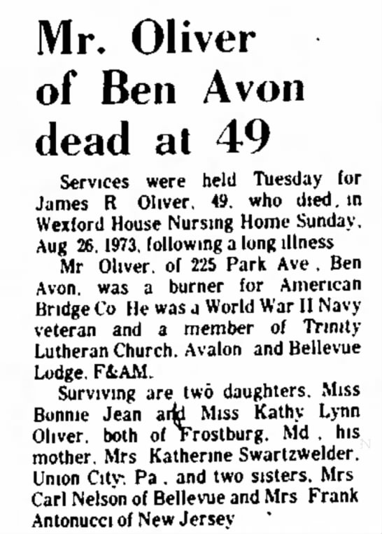 Obituary of James R. Oliver -