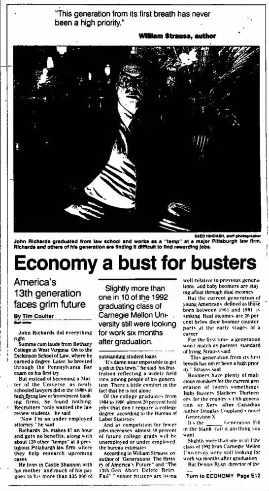 Generation X - Cultural History - Economy -