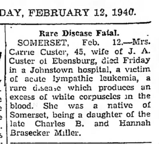 Carrie Custer 2-12-1940 -