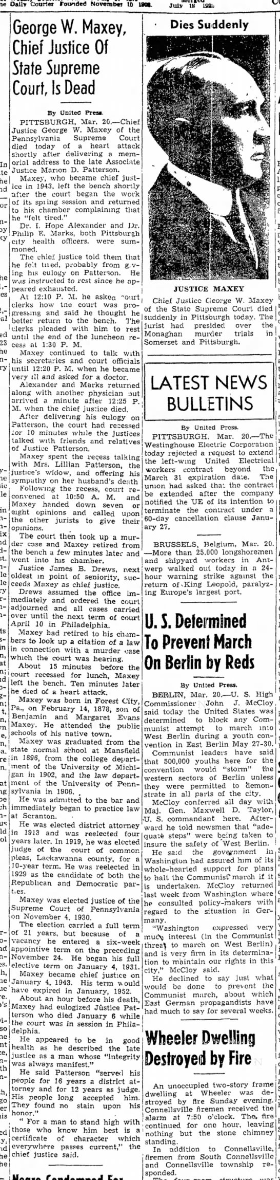 Maxey obit March 20, 1950 -