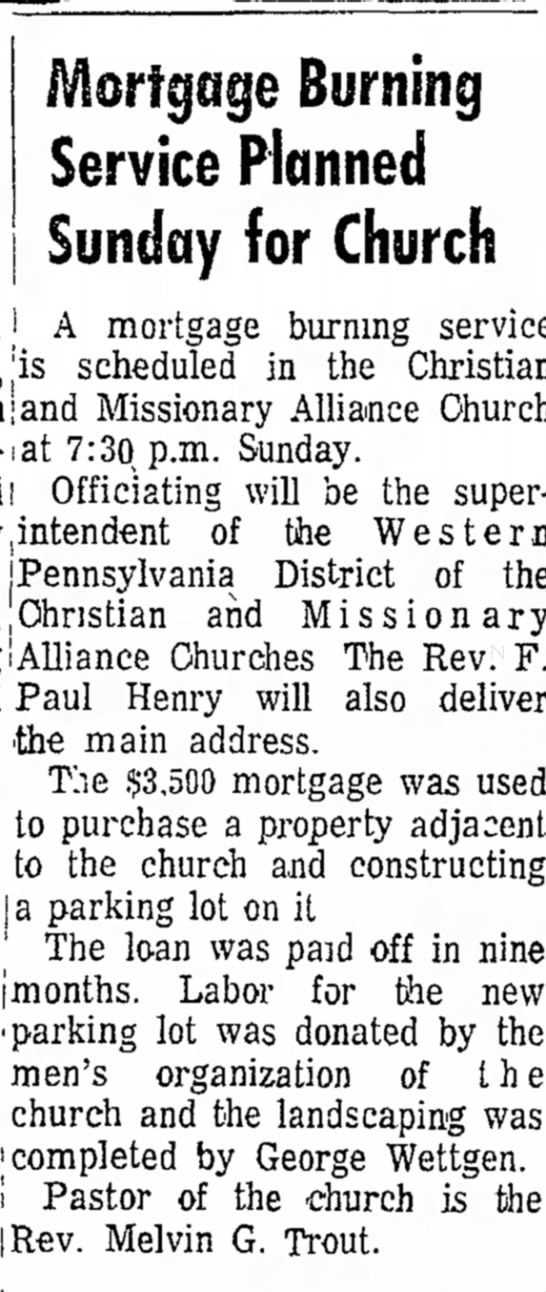george wettgen to complete landscaping for church page 14 the daily courier may 22 1971 -