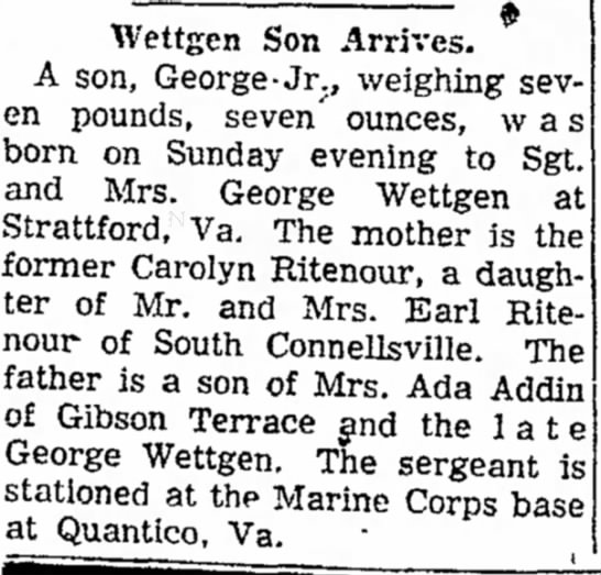 george wettgen jr born page 3 the daily courier december 28 1956 -
