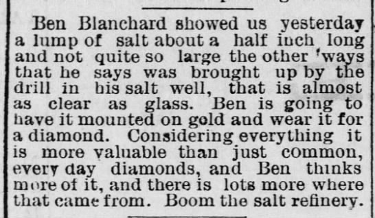Ben Blanchard plans to mount salt crystal in gold and wear it like jewelry -