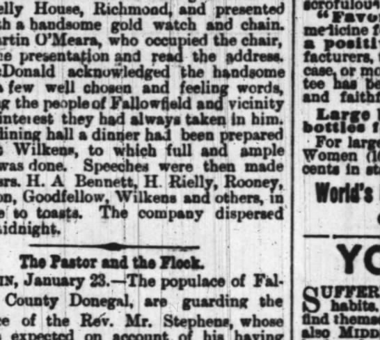 - the Richmond, and presented him handsome sold...
