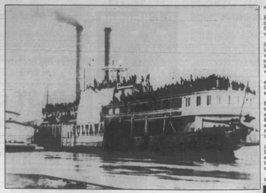 Last known photo of Sultana and passengers -