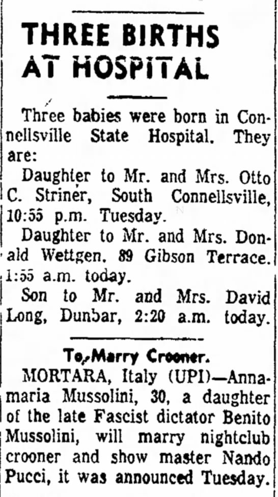 mr and mrs donald wettgen have daughter page 4 the daily courier march 30 1960 -
