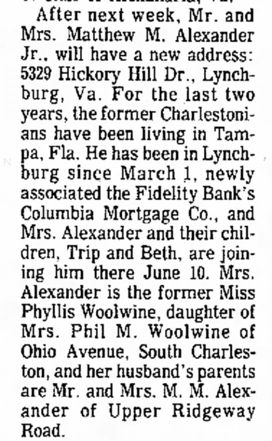 Phyllis Woolwine Alexander
