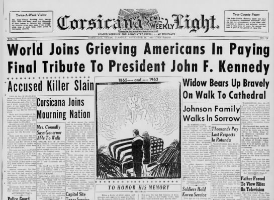 World grieves for John F. Kennedy -