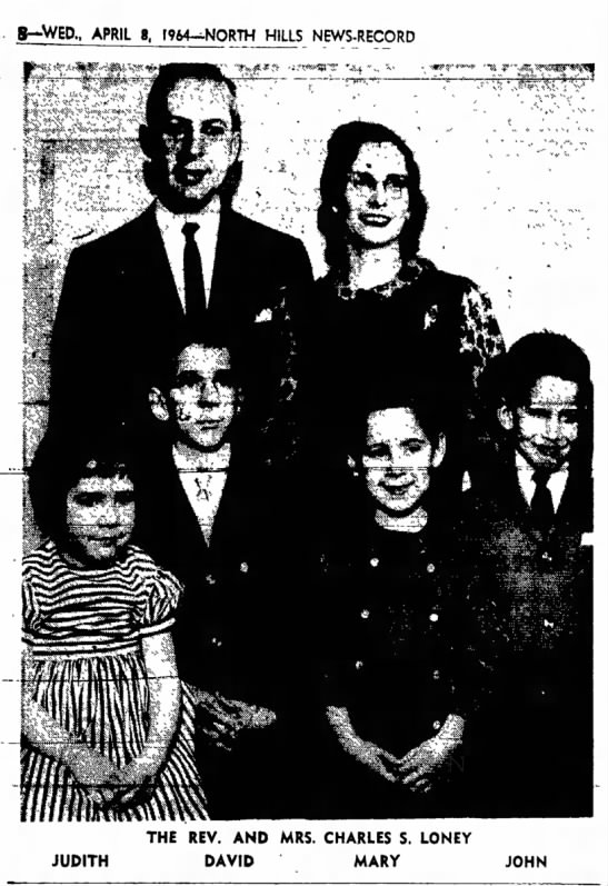 Charles Loney and family 1964 -