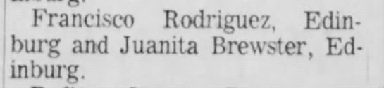 Which Juanita Brewster is this? Harlingen, 2mar1965, page 3 -