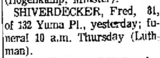Shiverdecker, Fred -
