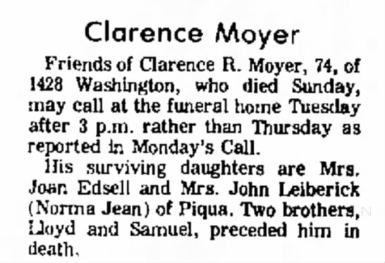 gr. uncle clarence -