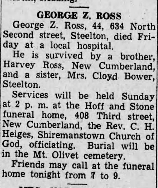 George Z. Ross obituary -