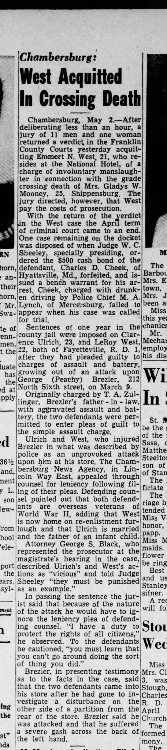Harrisburg Telegraph (Harrisburg, PA) 2 May 1946 -