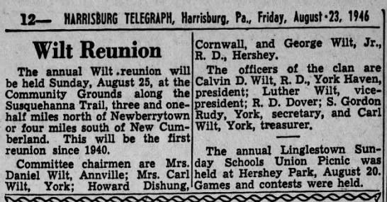 1946 Wilt Reunion -