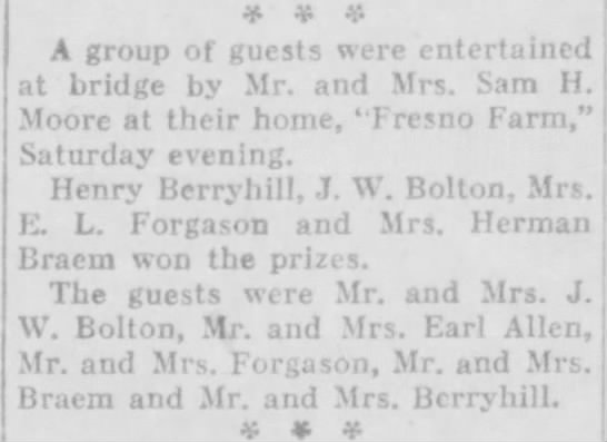 1929-01-22-04 Mrs. Herman Braem - if 4P A group of guests were entertained at...