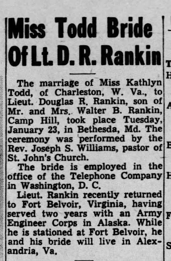 HARRISBURG TELEGRAPH, Wednesday, Feb. 14, 1945 P7 -