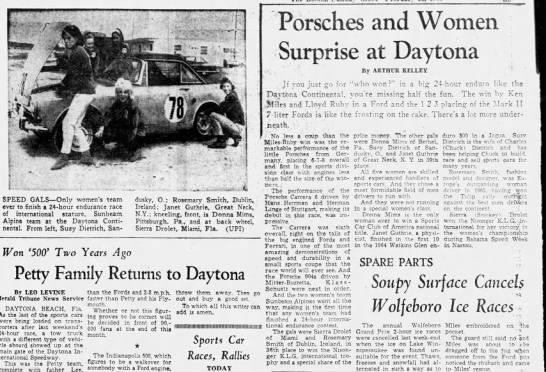 1966 Daytona 24 hour women results -
