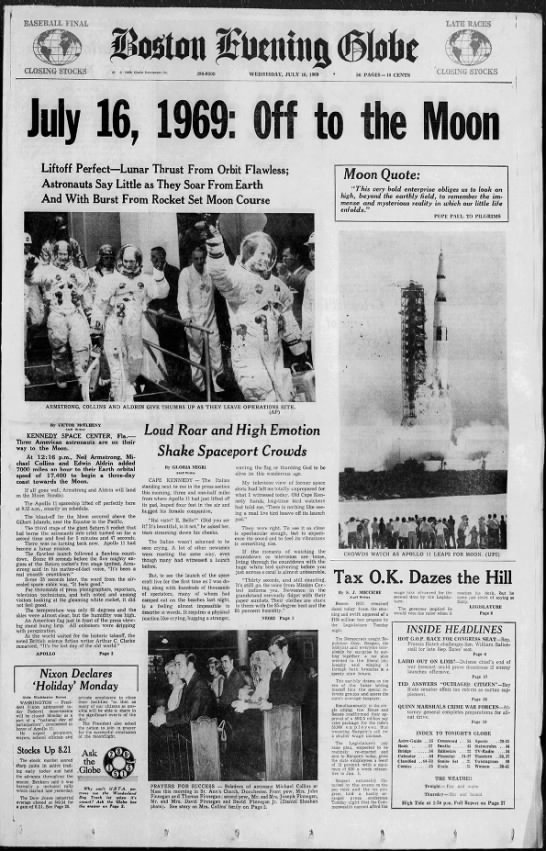Apollo 11 Takes Off -