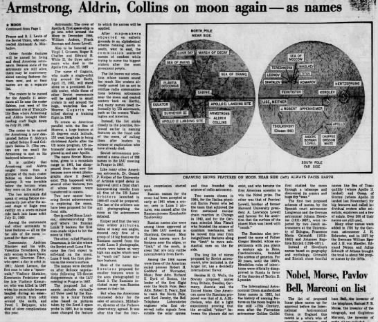 """Armstrong, Aldrin, Collins on Moon again - as Names"" page 16 -"