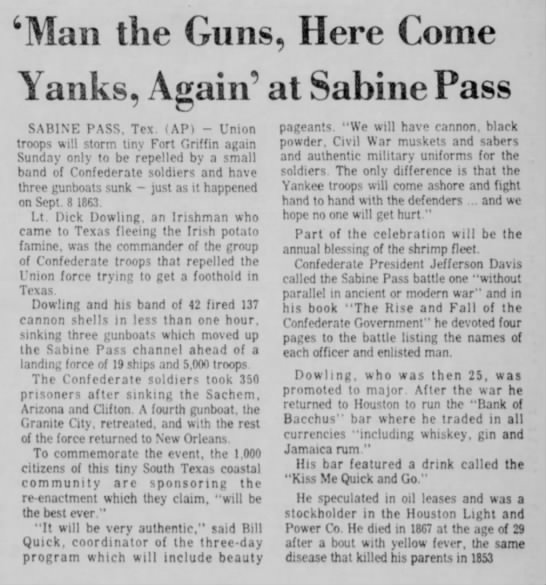Man the Guns - Waco Tribune Herald 3 Sept 1976 -