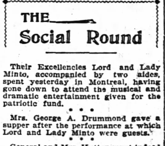 Drummonds host Lord and Lady Minto (1900) -