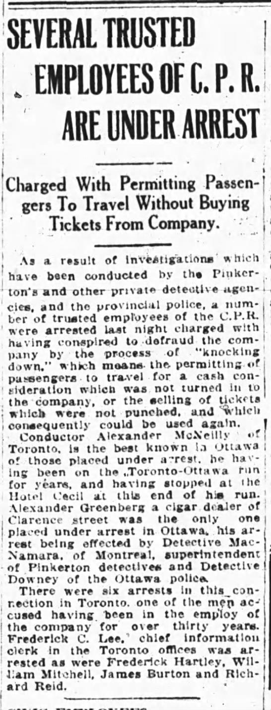 Hartley, Frederick - The Ottawa Journal, 26 Aug 1914, Railway arrest -