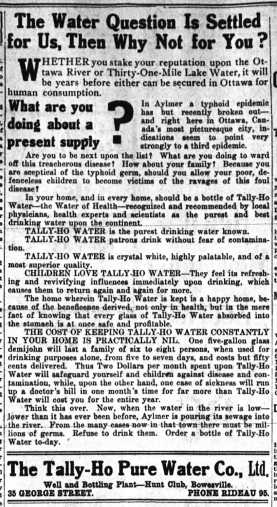 1914 11 27  Tally-Ho Water - Newspapers com