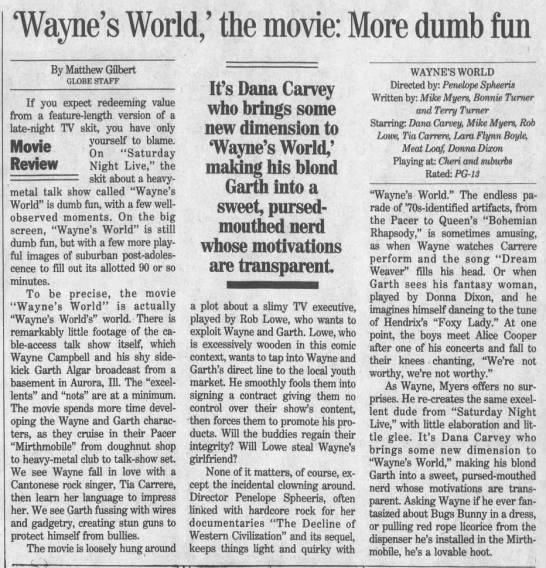 Wayne's World* -