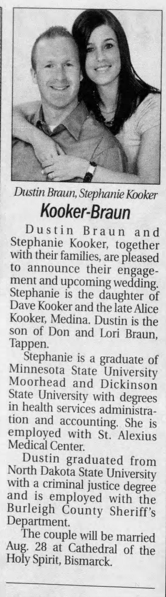 Stephanie Kooker weds 2010 ND -