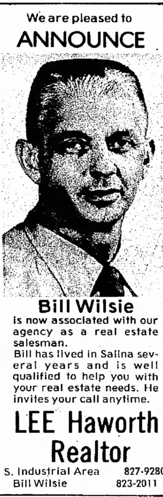 Bill at Lee Haworth Realty -