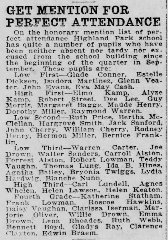 1913-11-18-03 Edwin Braem - GET MENTION FOR PERFECT ATTENDANCE On the...