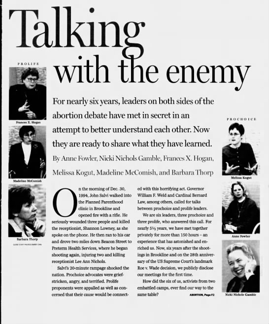 Talking with the enemy -