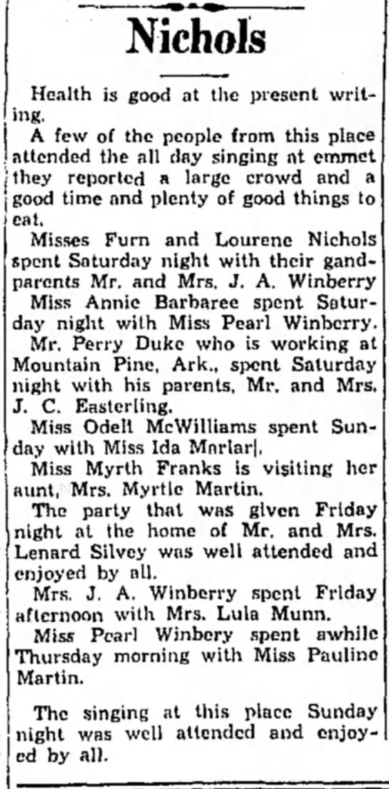 Winberry HS 8 July 1931 p3 -