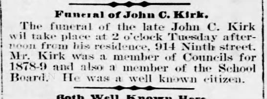 John C. KirkMarch 7, 1898 -