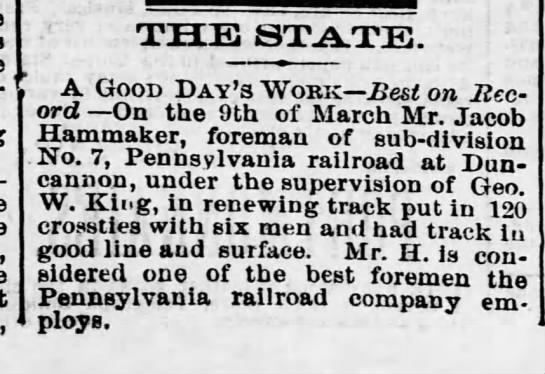 a l hammaker railroad march 1876 -