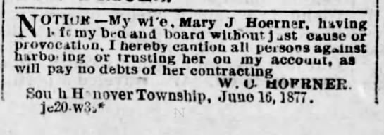W C Hoerner & wife, Mary -