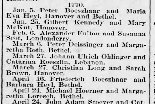 Michael Hoerner & Margaretha Loresch marriage 24 April 1770 -
