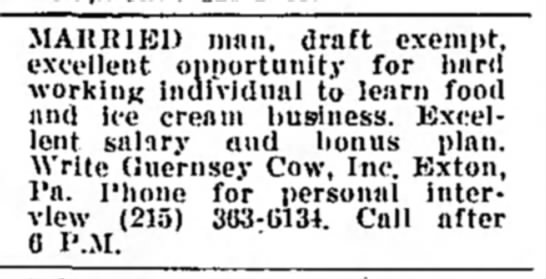 Help Wanted The Guernsey Cow -