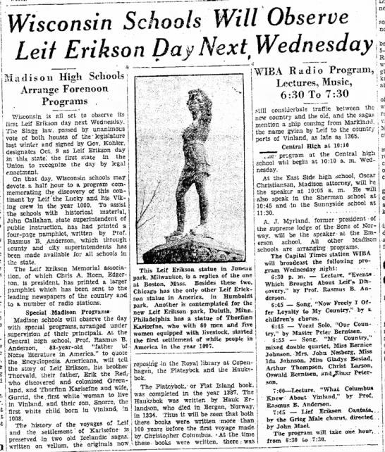 Leif Erikson Day -