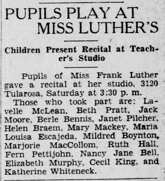 1928-11-05-05 Helen Braem - PLAY AT MISS LUTHER'S Children Present Recital...