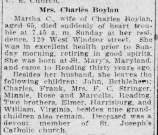 Martha C. Boylan -