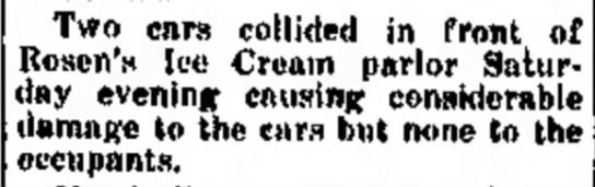 Rosen's Ice Cream Parlor 22JUL1927