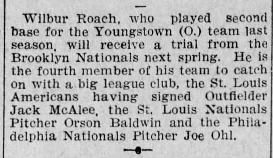 Roach Tryout With Brooklyn Nationals -