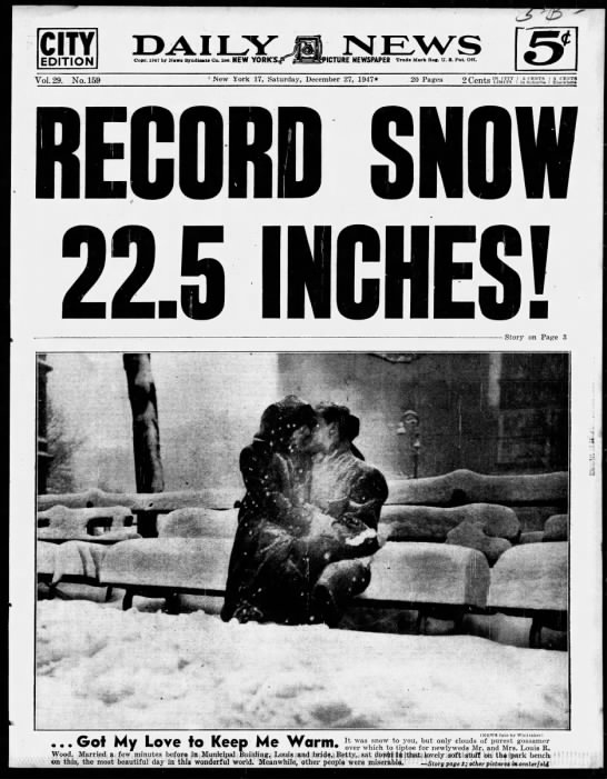 Record Snow in 1947 -