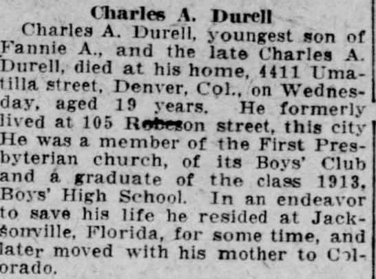Charles A. Durell -