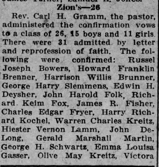 Harrison Wills Brunner confirmation -