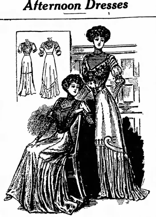 afternoon dress, 14 may 1910, daily press, wis. -